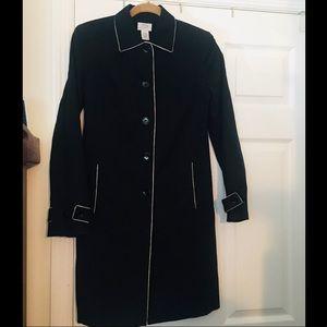 Ann Taylor LOFT Black Classic Trench Coat Size 6